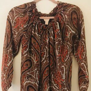 Michael Kors Paisley Formal Dress
